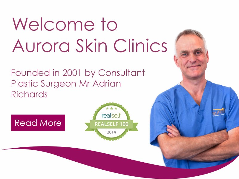 Aurora Skin Clinics: Banner showing Mr Adrian Richards