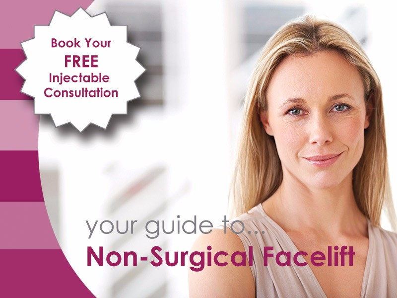 Aurora Skin Clinic: Banner showing a guide to Non-Surgical Facelift