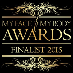 Aurora Skin Clinics: Image showing the My Face My Body logo for finalists in 2015's awards selection