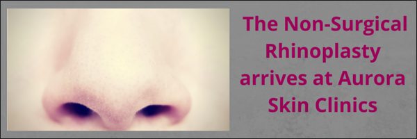 Aurora Skin Clinics: Banner showing the titile of a blog post on Non-Surgical Rhinoplasty treatment