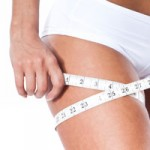 Image of Measuring tape around thigh - Aurora Skin Clinics