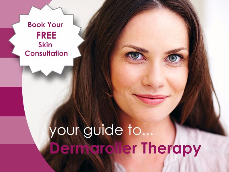 Aurora Skin Clinic: Banner showing a guide to Dermaroller Therapy